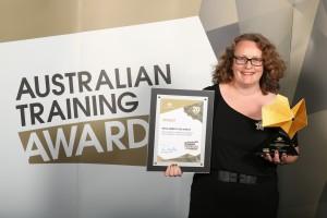 Freya Merrick dos Santos winner of 2014 Australian Training Award.